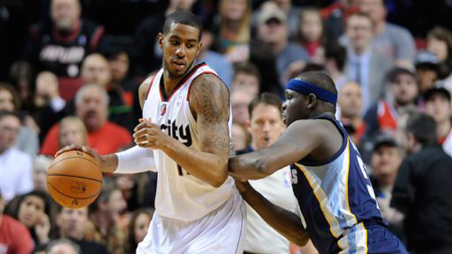 LaMarcus Aldridge and the Blazers take on Zach Randolph and the Memphis Grizzlies