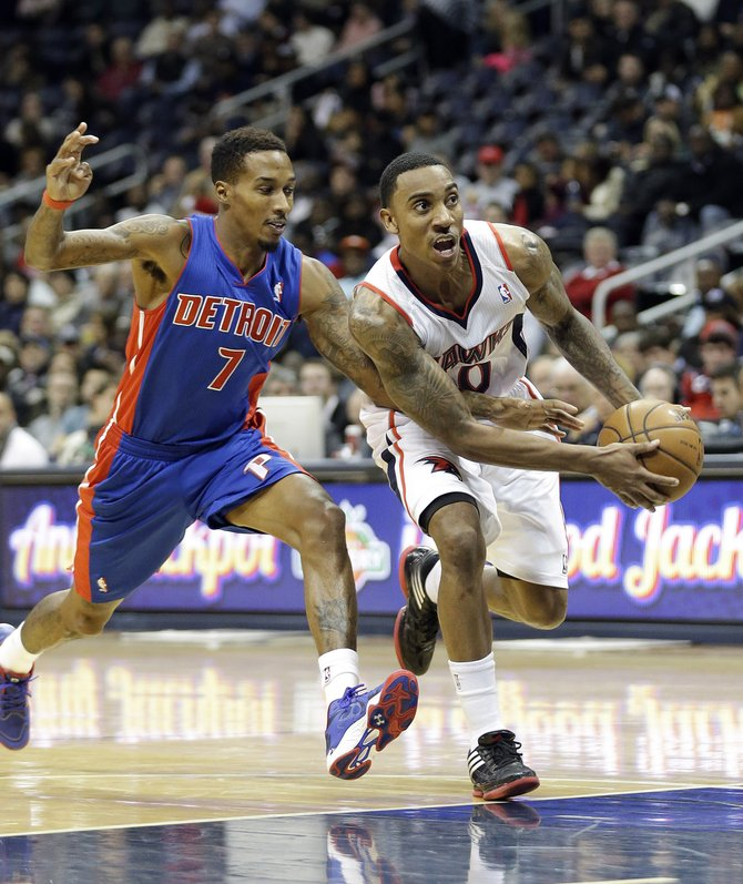 Jeff Teague leads the Hawks into Detroit to take on Brandon Jennings and the red hot Pistons.