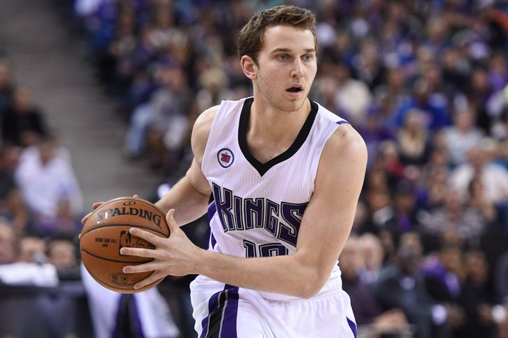 Kings rookie Nik Stauskas is only averaging 3.6 ppg on 27% shooting from beyond the arc.