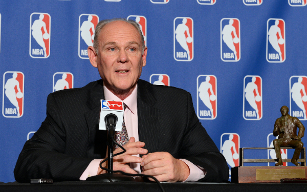 The last time George Karl coached he won 57 games and coach of the year with the Denver Nuggets.