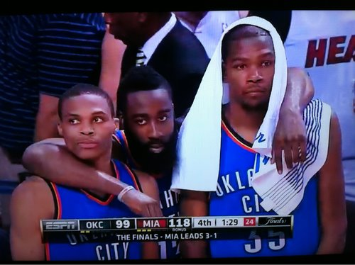 June 21, 2012. James Harden's last game with the Oklahoma City Thunder.