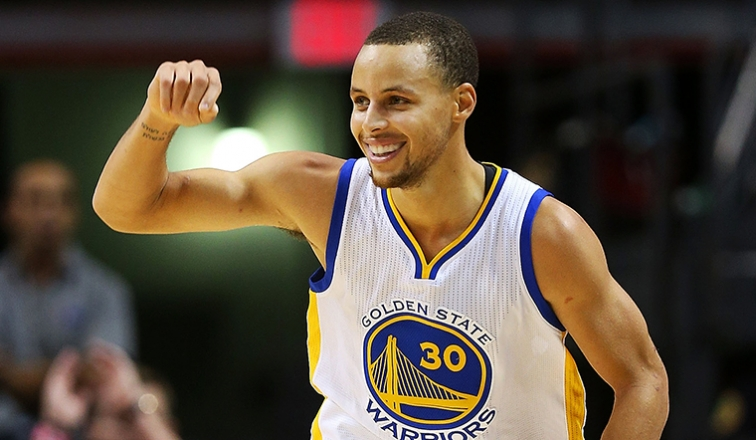 Steph Curry is my pick for MVP. Leads the league in made three pointers and has the best record in the NBA.