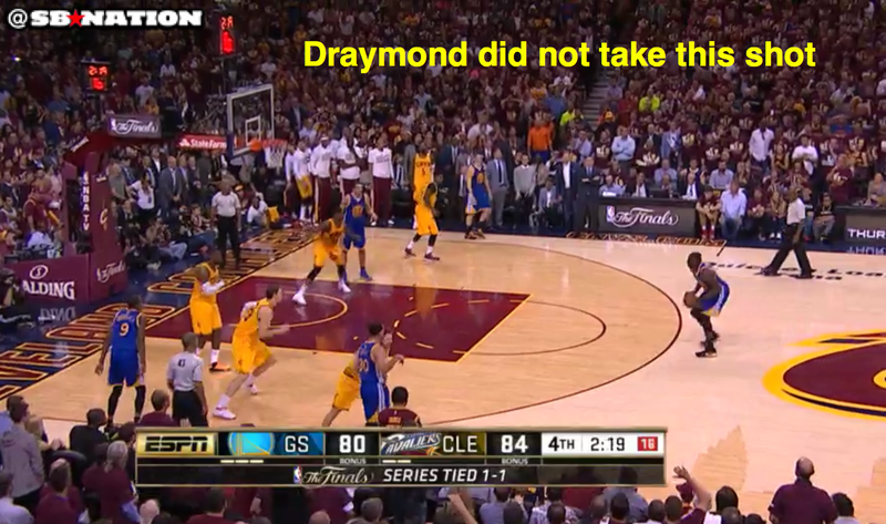 This is Draymond's confidence in the series. (Mike Prada/SB Nation)