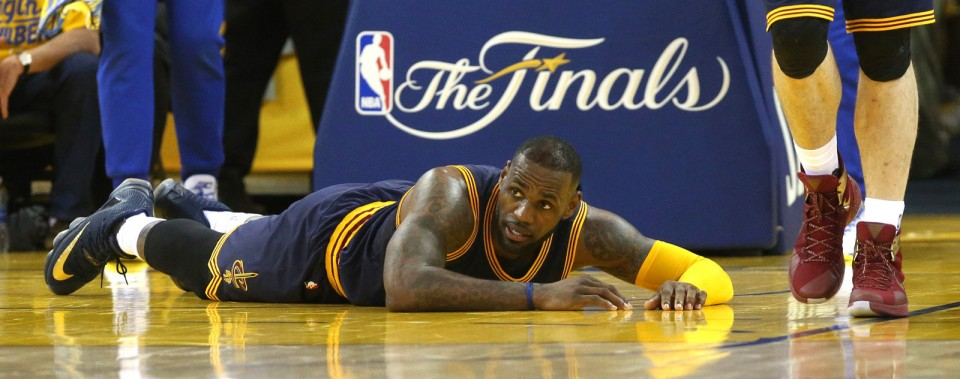 LeBron James and the Cavaliers are looking bad in the NBA Finals. (Photo Credit: Thomas Ondrey/The Plain Dealer)