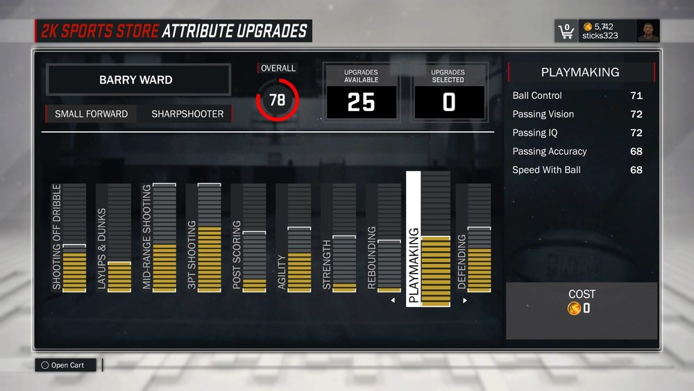 My ball control is only 71 and it is maxed out, I'm sure there are other shooters out there that can actually dribble.