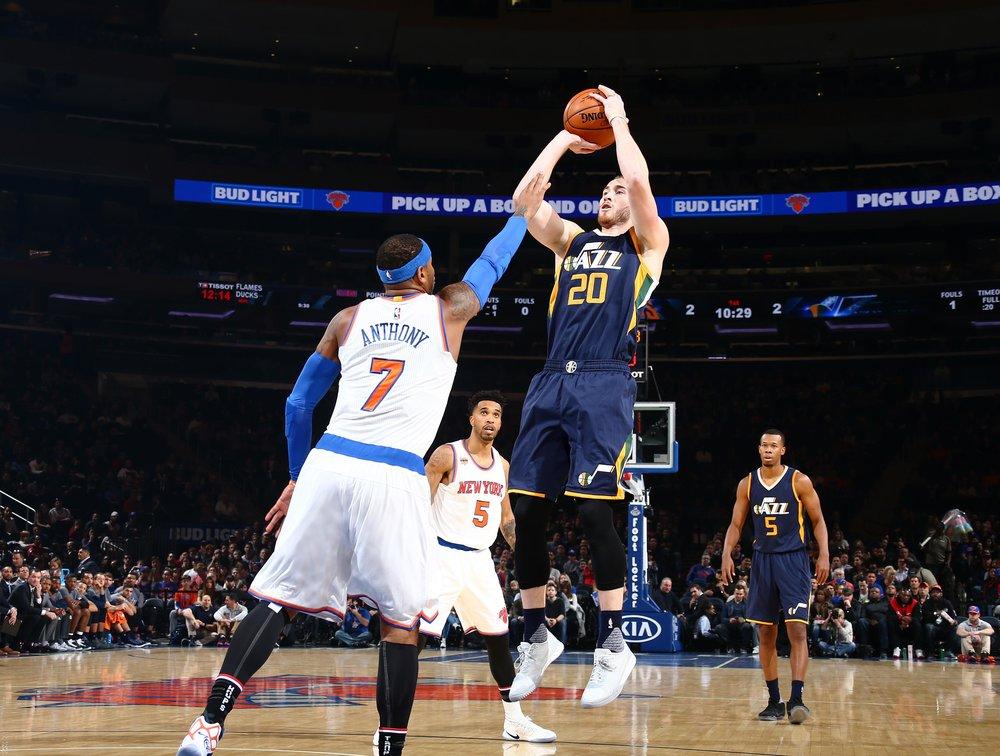 Gordon Hayward makes his season debut against the Knicks