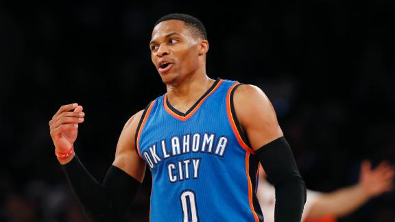 Russell Westbrook is averaging a triple-double 31 ppg, 11 apg and 10 rpg.