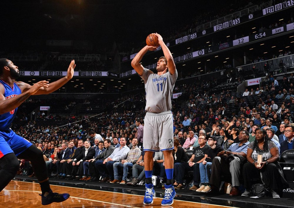 Brook Lopez leads all centers in made 3-pointers (38).
