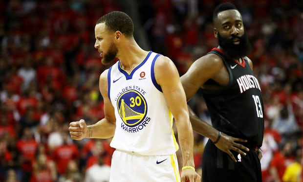 Steph Curry was 7-15 from 3-point range as the Warriors stormed back against the Rockets to punch a trip to the NBA Finals. (Ronald Martinez/ Getty Images)