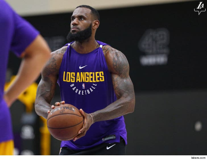 It will take some getting used to seeing LeBron James in Lakers gear.