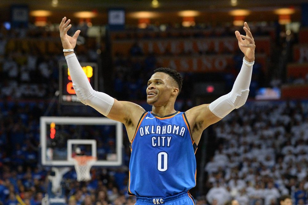 Russell Westbrook had knee surgery and may miss some games in the regular season.