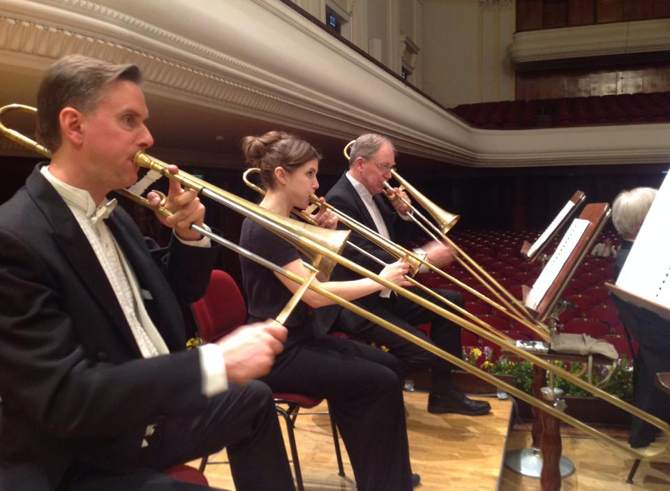 Trombone section for the Beethoven Festival in Warsaw, Poland