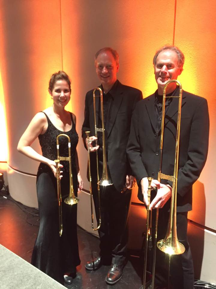 Brahms 1 trombone section in Houston with Mercury: The Orchestra Redefined