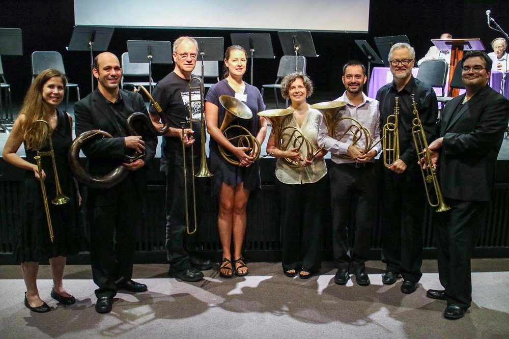 Performers at the Historic Brass Society Convention