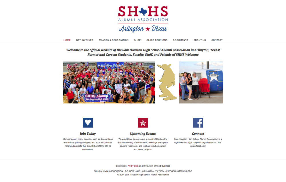 Website Design for SHHS Alumni Association