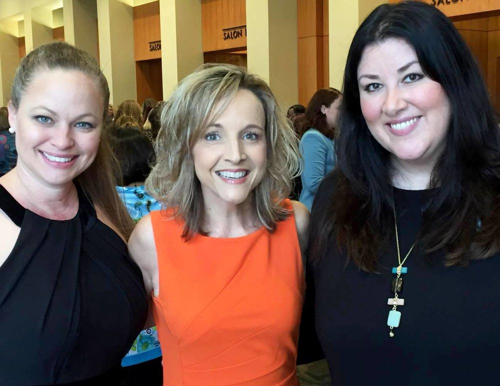 Rose Adams, Carrie Wilkerson, and Laura Heymann at the 7th Annual Inspired Women Luncheon (2017).