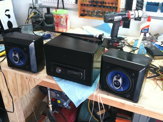Workshop car stereo boombox
