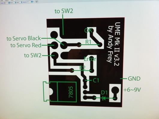 UME Mk II PCB Diagram