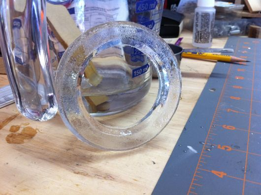 Final clear epoxy resin reactor ring