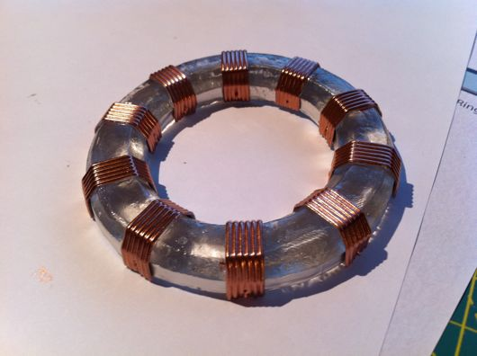 Genuine simulated copper windings
