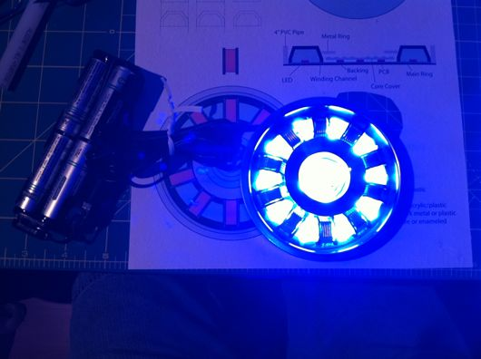 RT Mark II arc reactor replica powered up