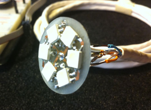 LED Head on power cable