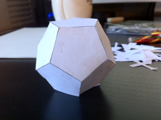 Paper dodecagon prototype LED bulb