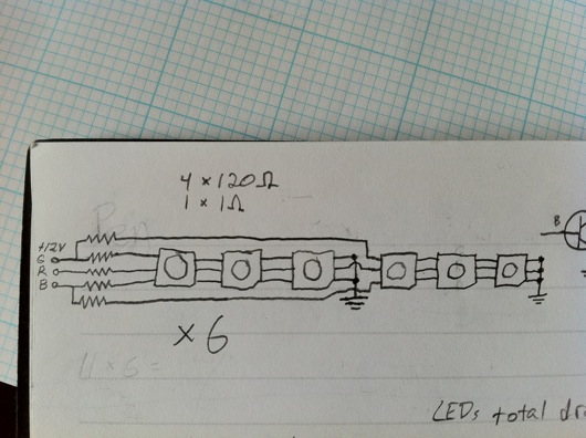LED circuit sketch