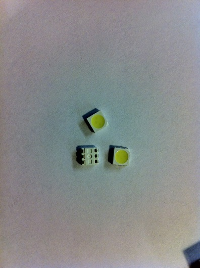 5mm triple white LED SMD package