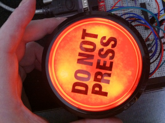 Viola! Lighted and customized big red dome pushbutton!
