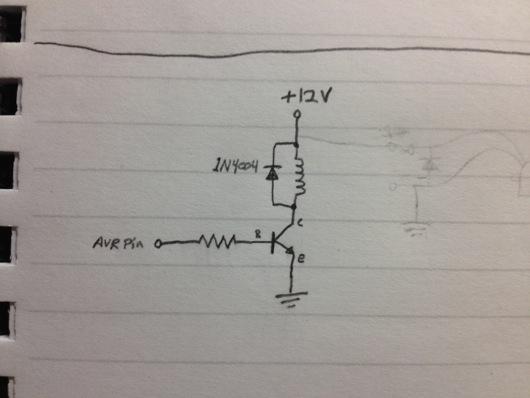Solenoid bell circuit sketch