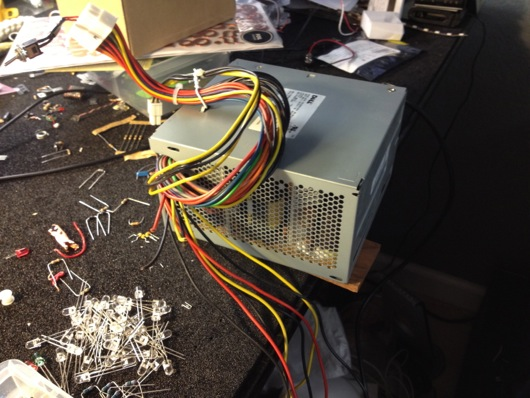 Repurposed Dell PC power supply as benchtop power supply