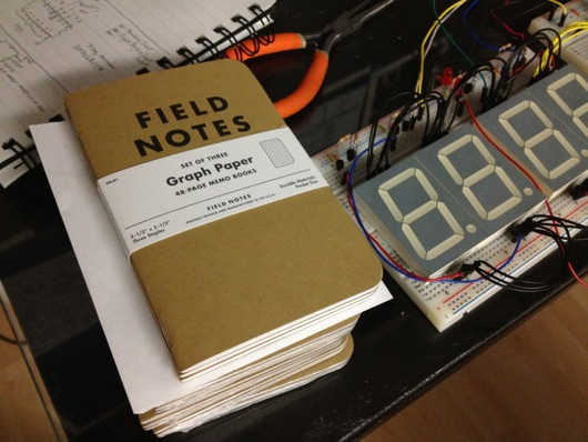 Field Notes® brand notebooks for diagrams and doodles
