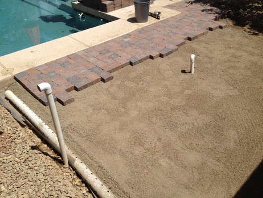 Pavers, drainage and gas line conduit
