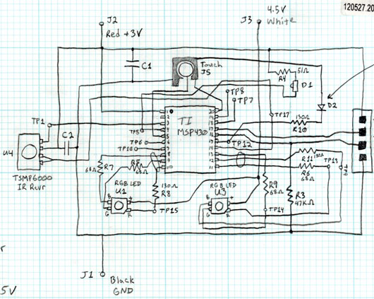 Rough Pencil-drawn Schematic
