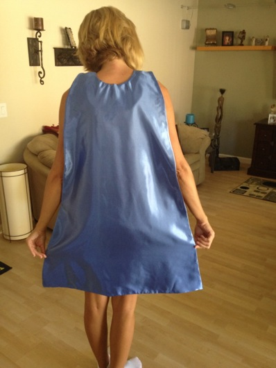 DIY Superhero Cape Finished, Pre-Silkscreen