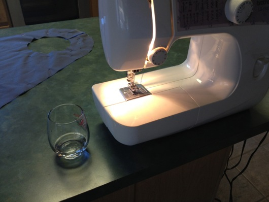 Cape Sewing Machine with Bourbon