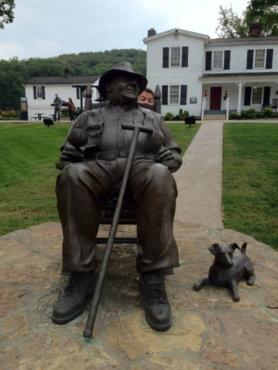 Booker Noe Statue at Jim Beam Distillery