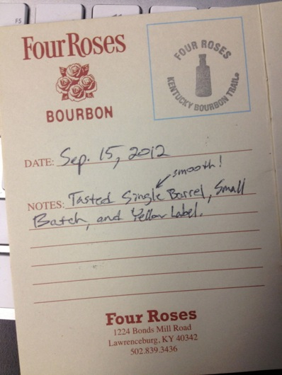 Kentucky Bourbon Trail Passport Stamp - Four Roses