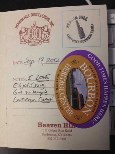 Kentucky Bourbon Trail Passport Stamp - Heaven Hill