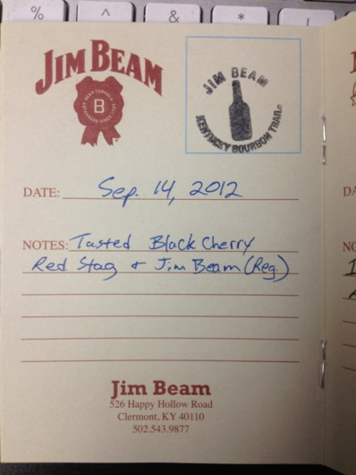 Kentucky Bourbon Trail Passport Stamp - Jim Beam
