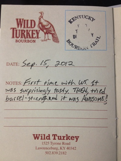 Kentucky Bourbon Trail Passport Stamp - Wild Turkey