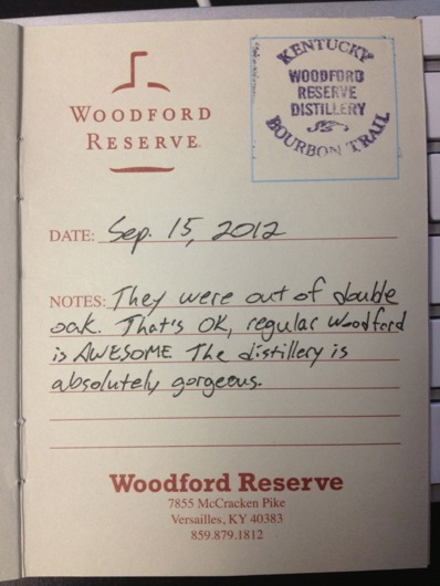 Kentucky Bourbon Trail Passport Stamp - Woodford Reserve