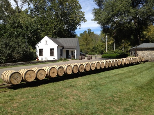 Woodford Reserve Barrels on Track