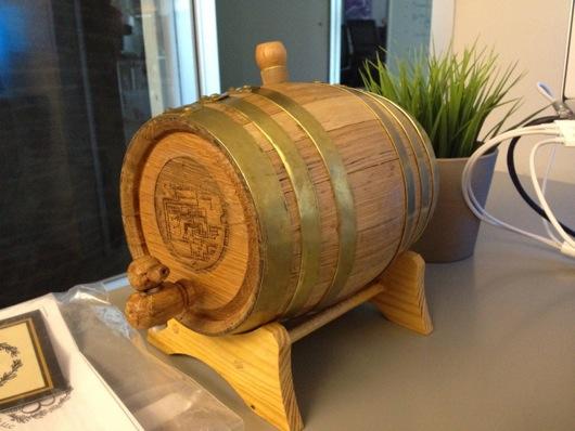 Brand New Charred Oak Mini Barrel