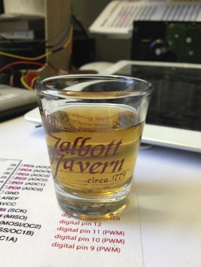 Shot of Finished Bourbon