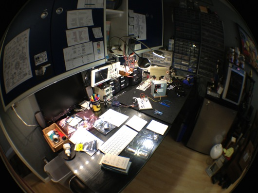 Fisheye of Electronics Bench
