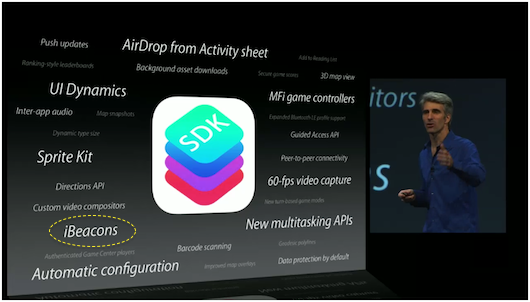 WWDC 2013 API Slide with iBeacons