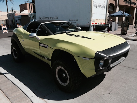 Local Motors Rally Fighter in Lime Green and Awesome