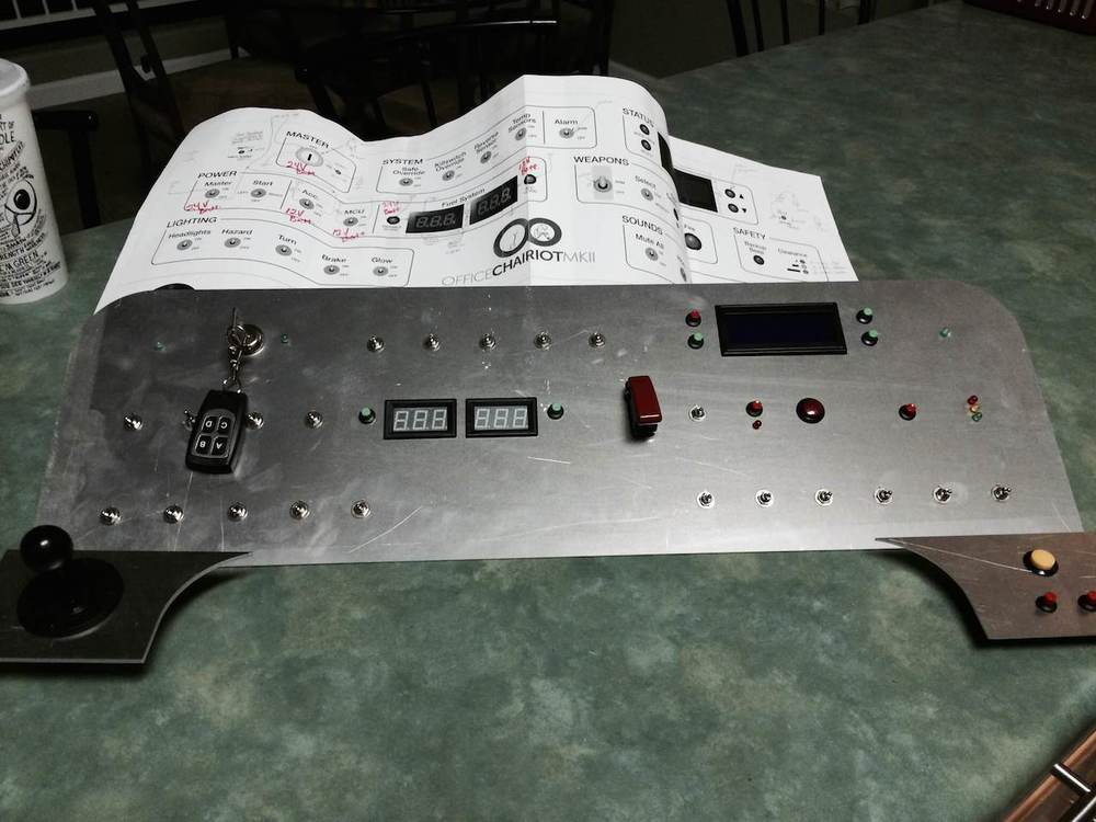 Aluminum Control Panel Top with Controls